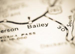 Bailey, Colorado map