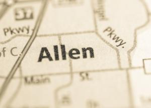 Allen Texas map