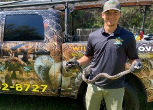 Man holding a snake