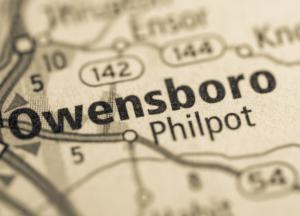 Owensboro Kentucky on map