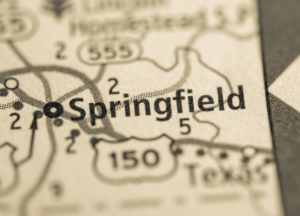 Springfield Kentucky on map