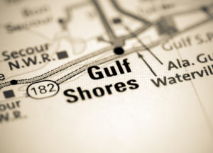 Photo of a map of Gulf Shores
