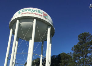 Photo of the Clarksvilee Water Tower