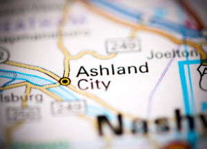 Ashland City on map