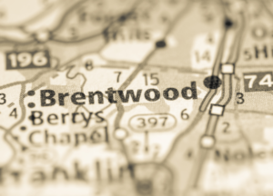 Brentwood on map