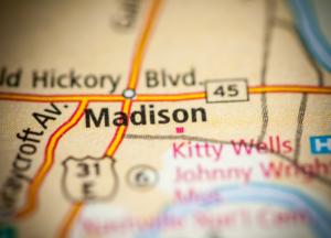 Madison on map