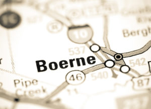 Photo of a map of Boerne