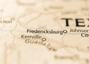 Photo of a map of Fredricksburg