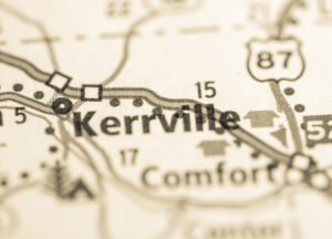 Photo of a map of Kerrville