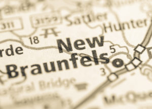 Photo of a map of New Braunfels