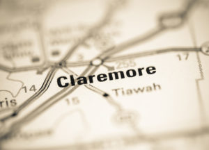 Photo of a map of Claremore