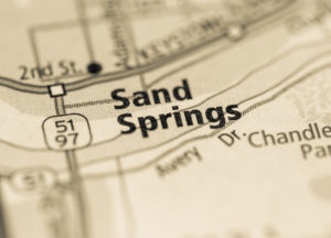 Photo of a map of Sand Springs