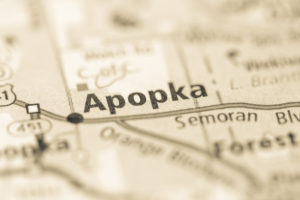 Photo of a map of Apopka