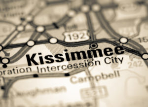 Photo of a map of Kissimmee