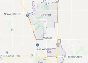 Photo of a map of Deforest WI
