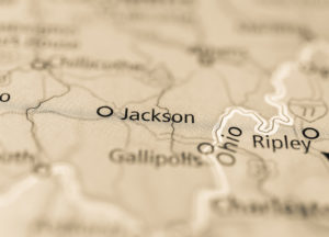 Photo of a map of Jackson