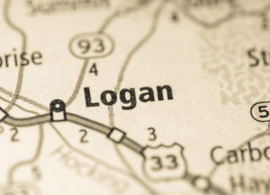 Photo of a map of Logan