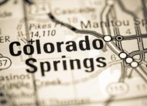 Colorado Springs Colorado map