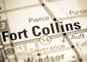 Fort Collins Colorado map
