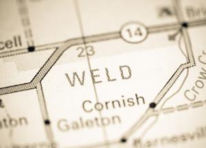 Weld Colorado map